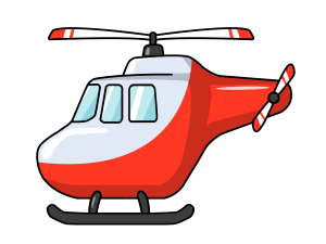 picture of a red helicopter